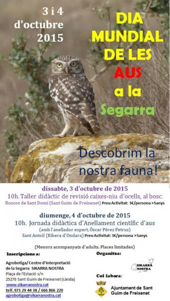 cartell Dia Mundial de les Aus a la Segarra (1ª Part)