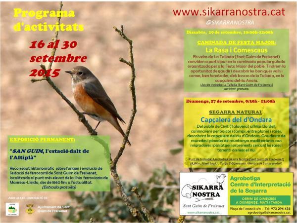 cartell SEGARRA NATURAL: Capçalera del d'Ondara