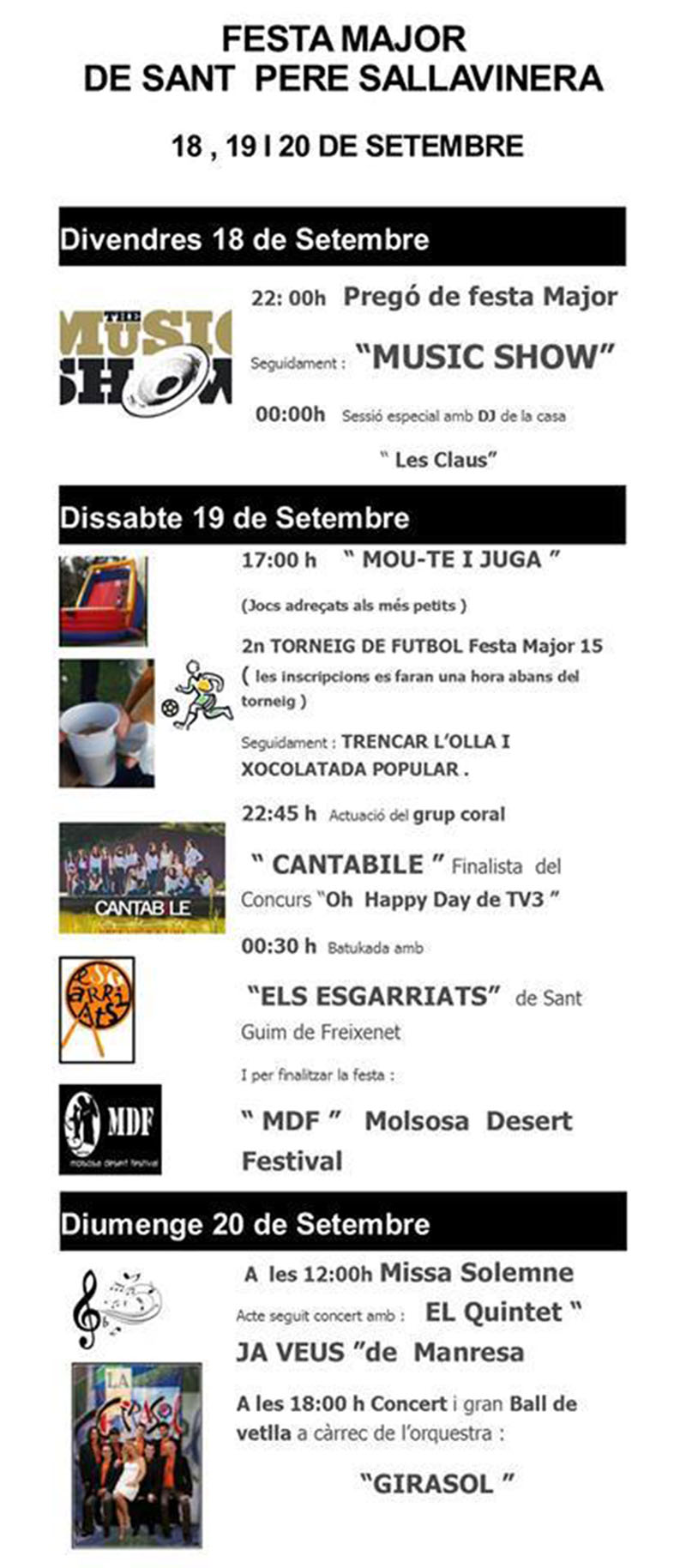 cartell Festa Major de Sant Pere Sallavinera 2015