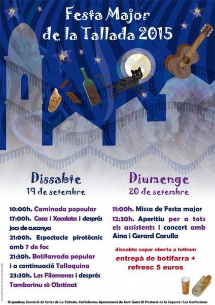 cartell FESTA MAJOR DE LA TALLADA 2015