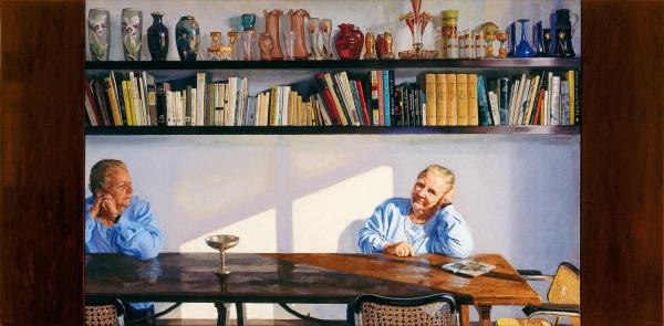 Carme Balcells en una pintura de Gonzalo Goytisolo