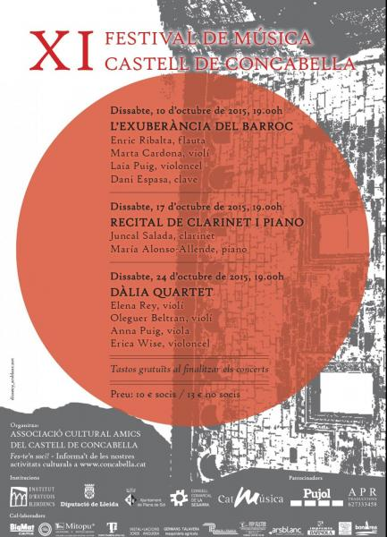 cartell 11è Festival de música castell de Concabella