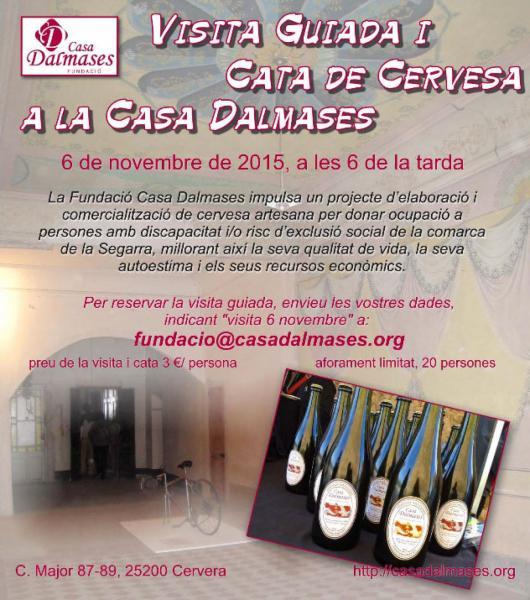 cartell Visita guiada i cata de cerveses Dalmases