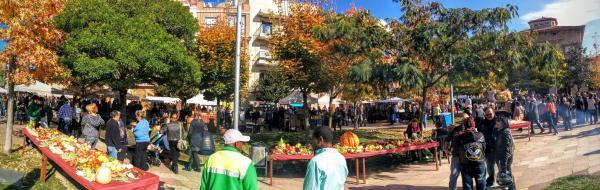 01.11.2015 vista de la fira  Calaf -  Ramon Sunyer