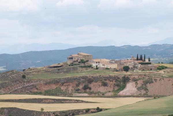 24.05.2015 Vista de Dusfort des de Mirambell  Dusfort -  Ramon Sunyer