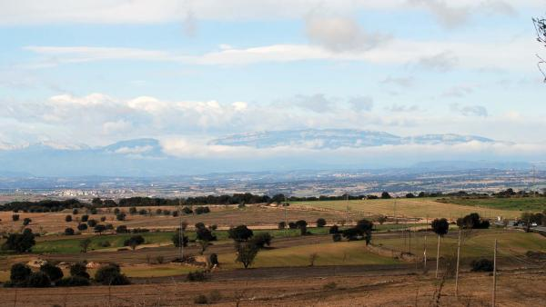 22.11.2015 vista del Montsec  Tarroja de Segarra -  Ramon Sunyer