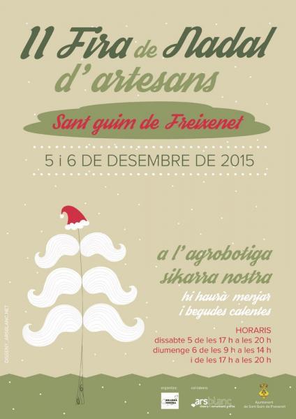 cartell 2ª FIRA DE NADAL d'artesans de Sant Guim de Freixenet