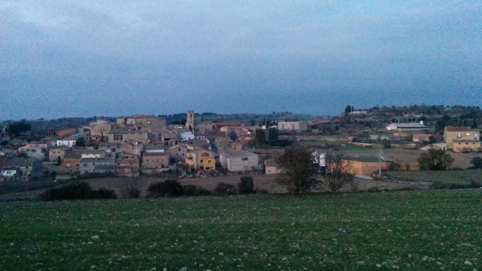 10.12.2015 vista del poble  Sant Guim de la Plana -  Ramon Sunyer
