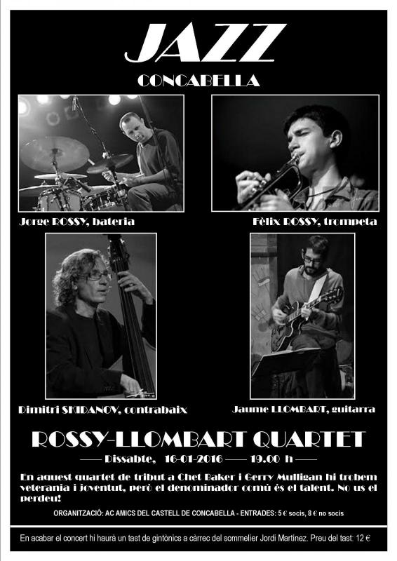cartell Concert jazz Rossy-Llombart Quartet