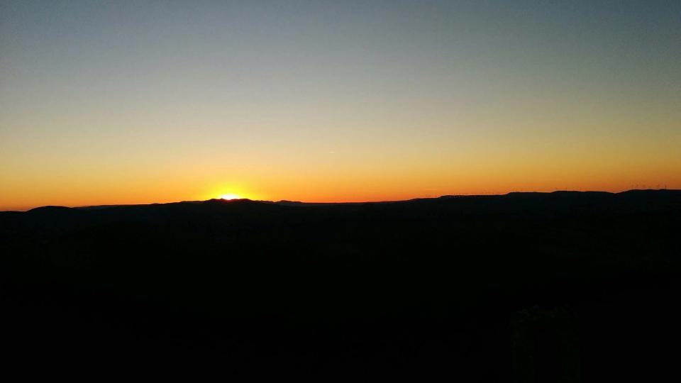 16.01.2016 Posta de Sol des del castell de Queralt  Bellprat -  Ramon Sunyer