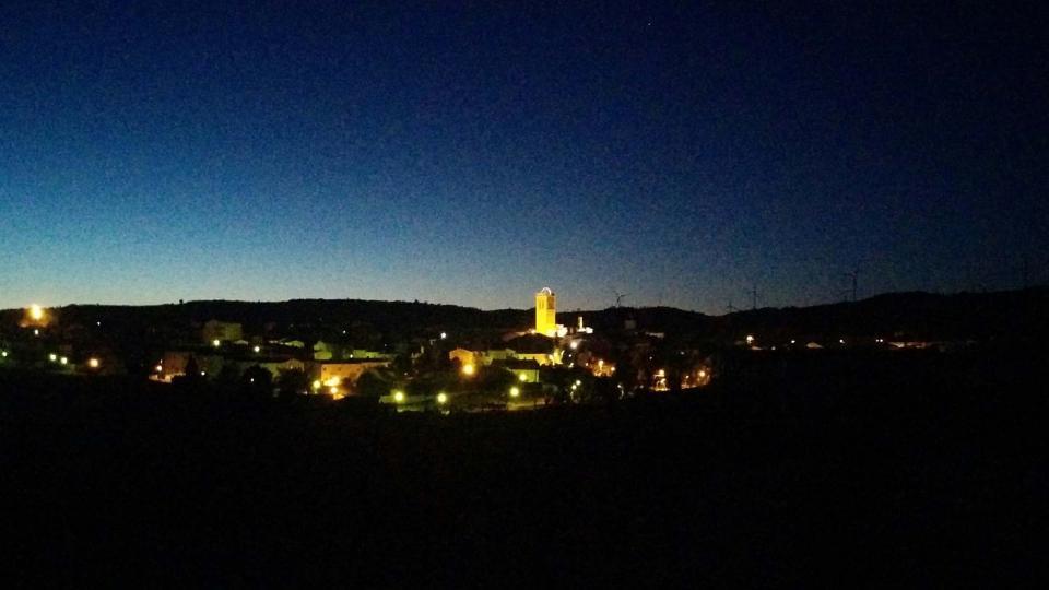 16.01.2016 Vista de nit  Santa Coloma de Queralt -  Ramon Sunyer