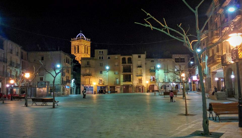 16.01.2016 plaça major  Santa Coloma de Queralt -  Ramon Sunyer