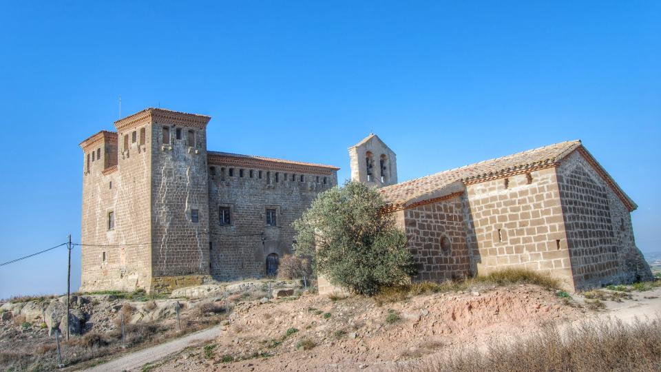 24.01.2016 Castell gòtic (XV, XVI) i Església Santa Anna(XV)  Montcortès de Segarra -  Ramon Sunyer