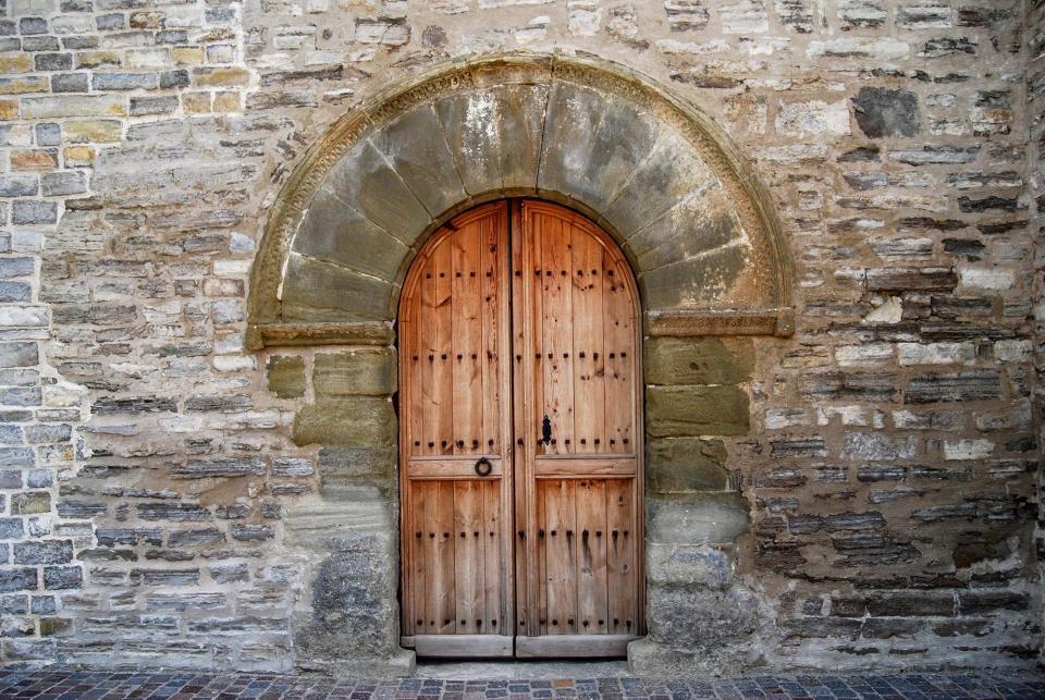 13.09.2015 Porta Església de Sant Antolí  Sant Antolí i Vilanova -  Ramon Sunyer