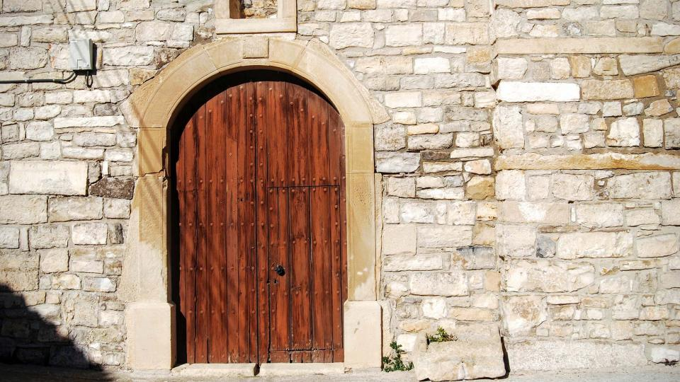 07.02.2016 Porta Església Sant Salvador  Montoliu de Segarra -  Ramon Sunyer