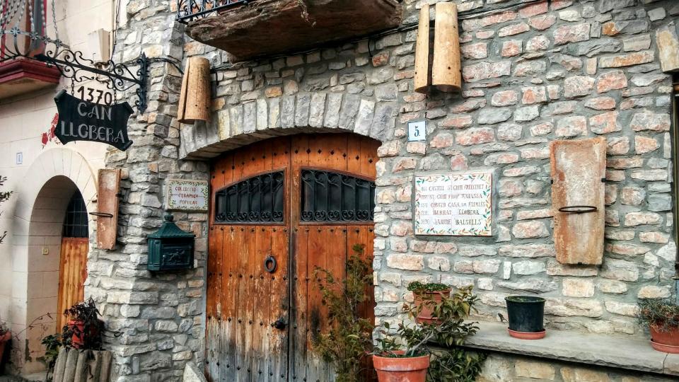 15.02.2015 detall casa  Sant Guim de la Rabassa -  Ramon Sunyer