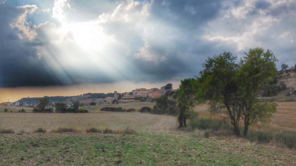 29.08.2014 vista general  Viver de Segarra -  Ramon Sunyer