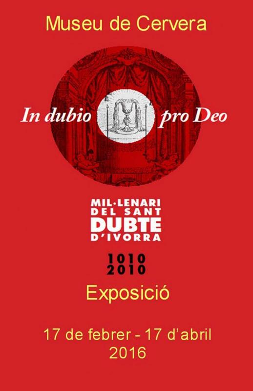 cartell Exposició 'In dubio pro Deo'
