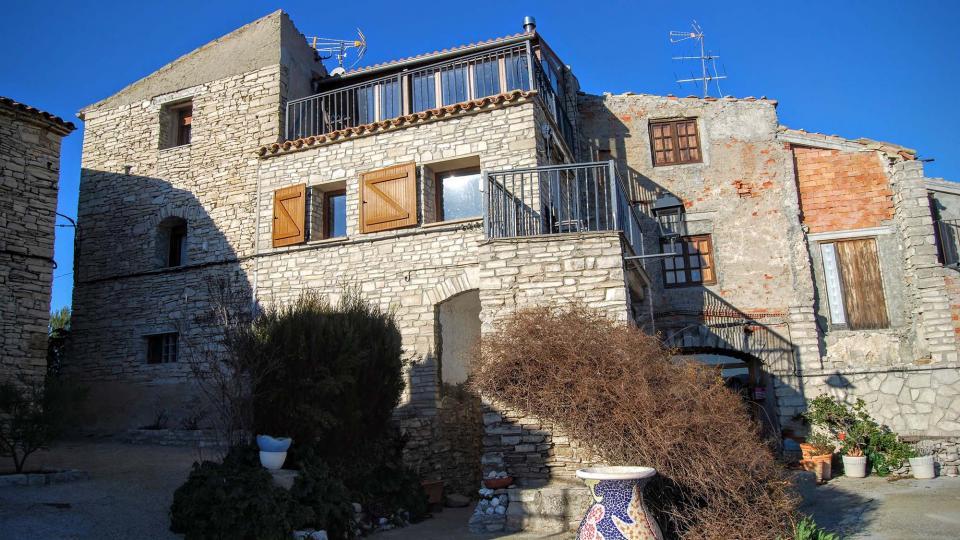 17.02.2016 detall casa antic castell  Briançó -  Ramon Sunyer