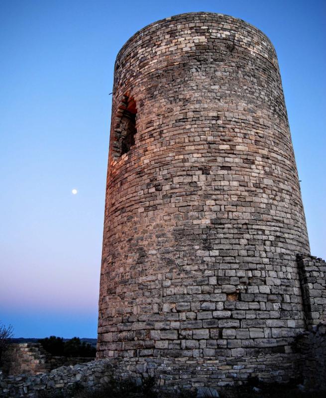20.02.2016 torre romànica s. XI  L'Ametlla de Segarra -  Ramon Sunyer