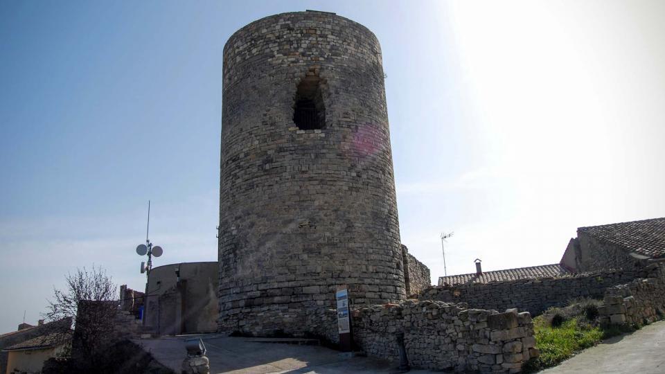 21.02.2016 torre romànica s. XI  L'Ametlla de Segarra -  Ramon Sunyer