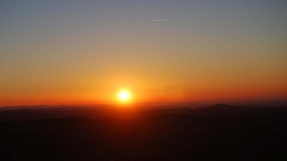 20.02.2016 posta de Sol  L'Ametlla de Segarra -  Ramon Sunyer