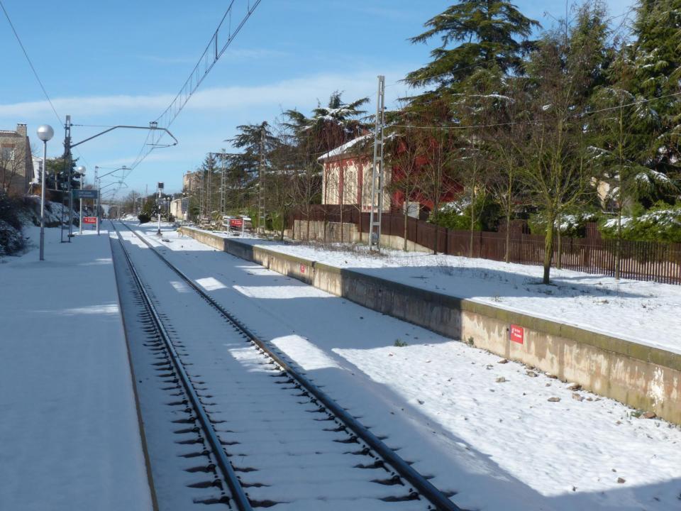 28.02.2016 L'estació després de la nevadeta  Sant Guim de Freixenet -  Daniel Espejo Fraga