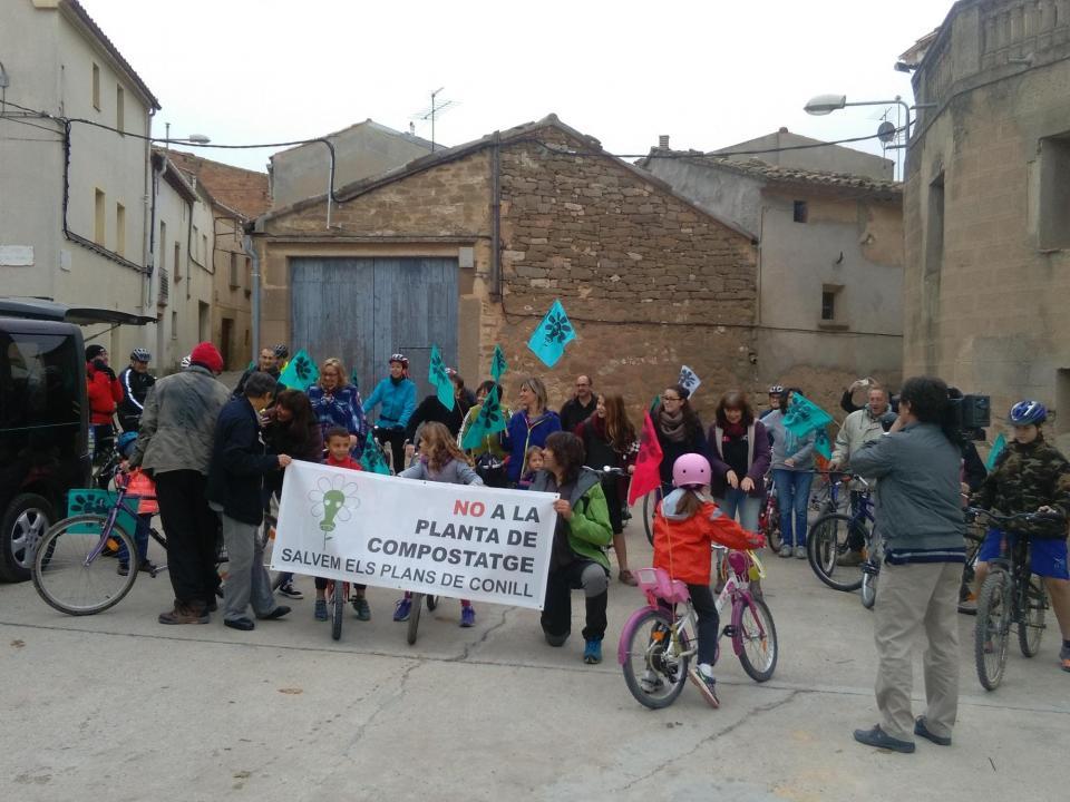 mobilització a la Figuerosa contra la planta de compostatge