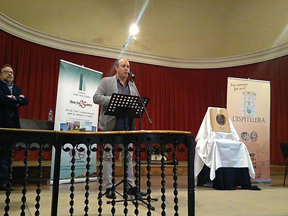 El Paer en Cap, Ramon Royes, durant la seva intervenció - Cervera