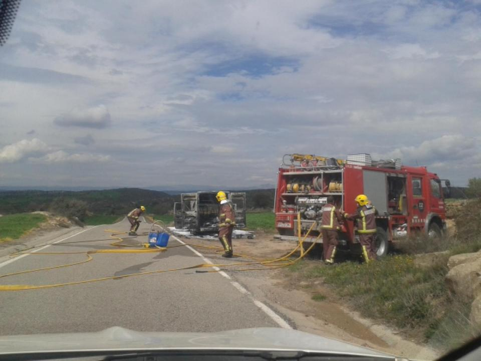 INCENDI A LA CARRETERA LOCAL L-314 -