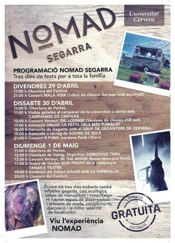 cartell Festival Nomad Segarra