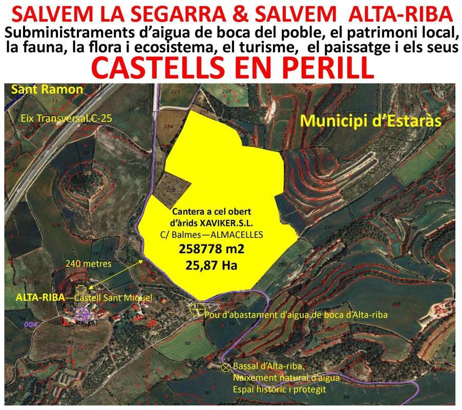 Els Amics del Castell d'Alta-riba alerten dels perills d'una gran cantera al seu municipi