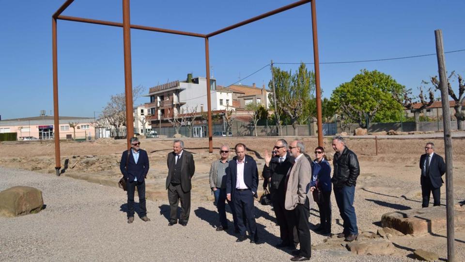 Visita al Parc Arqueològic de Guissona nova seu del Campus d'Arqueologia de la UAB