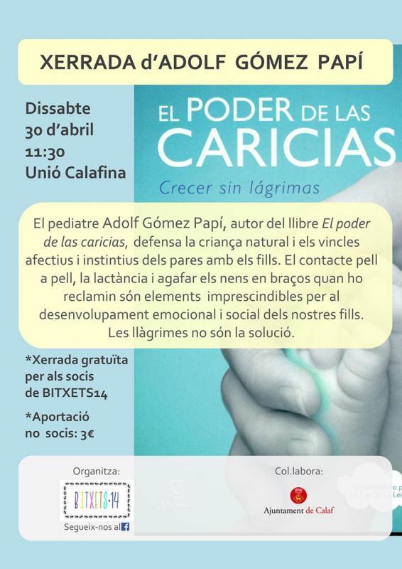 El pediatre pioner del Mètode Cangur, Adolf Gómez Papí, serà dissabte a Calaf