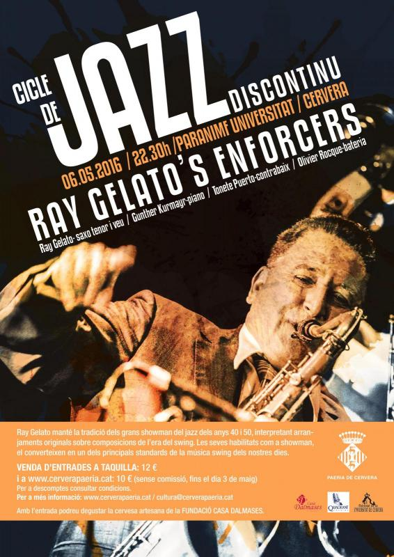cartell Concert de Jazz Ray Gelato's Enforcers