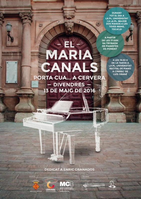 cartell Maria Canals porta cua.... a Cervera - Cervera