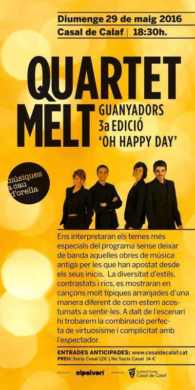 cartell Concert del Quartet Mèlt