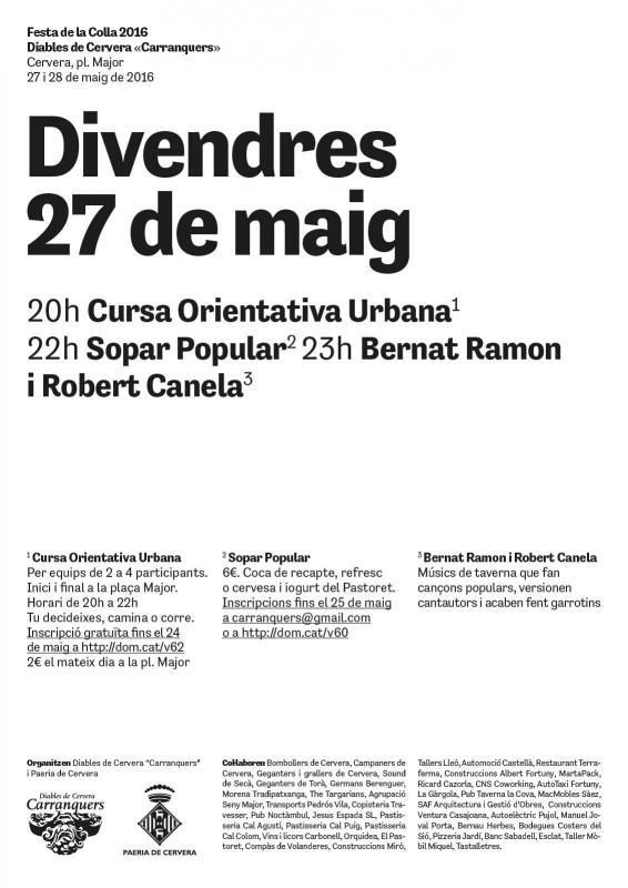 cartell Festa colla Carranquers 2016