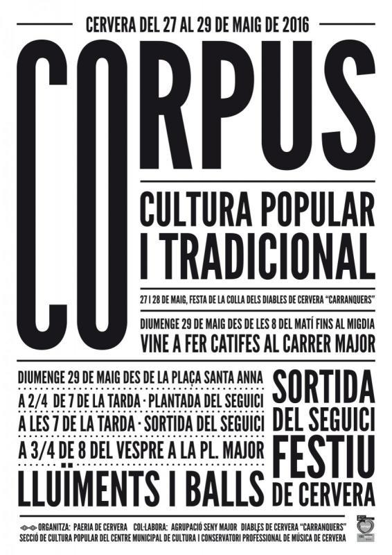 cartell Corpus Cervera 2016