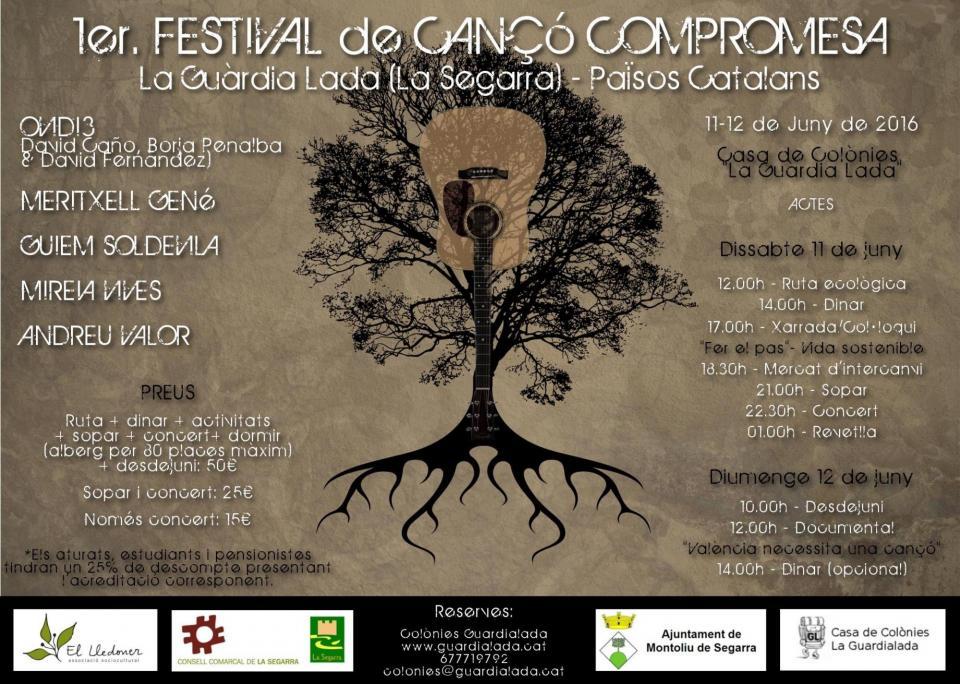 cartell 1er. Festival de cançó compromesa