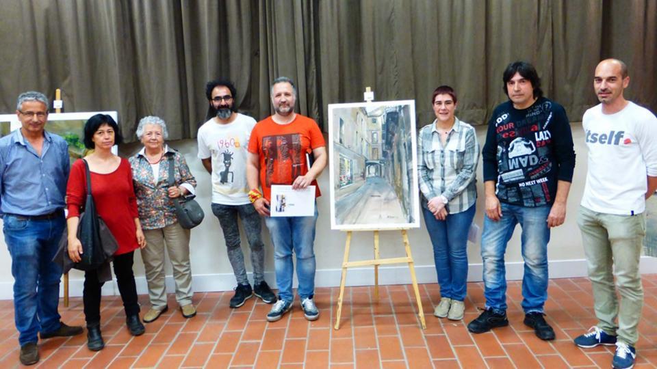 06.06.2016 Lluís Puiggrós, guanyador del 2n Concurs de Pintura Ràpida  Guissona -  Aj Guissona