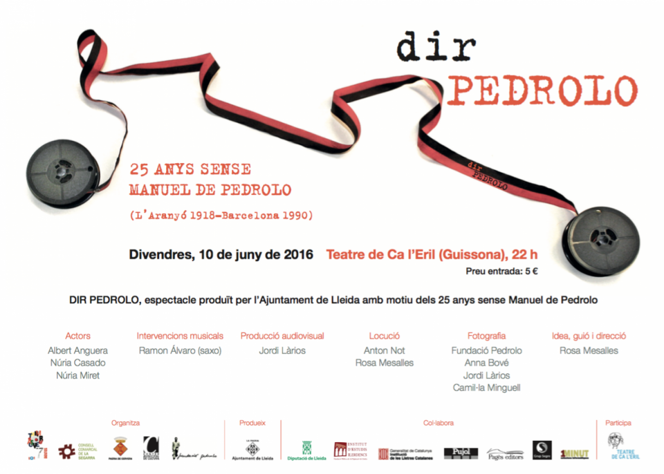 cartell Espectacle Dir Pedrolo