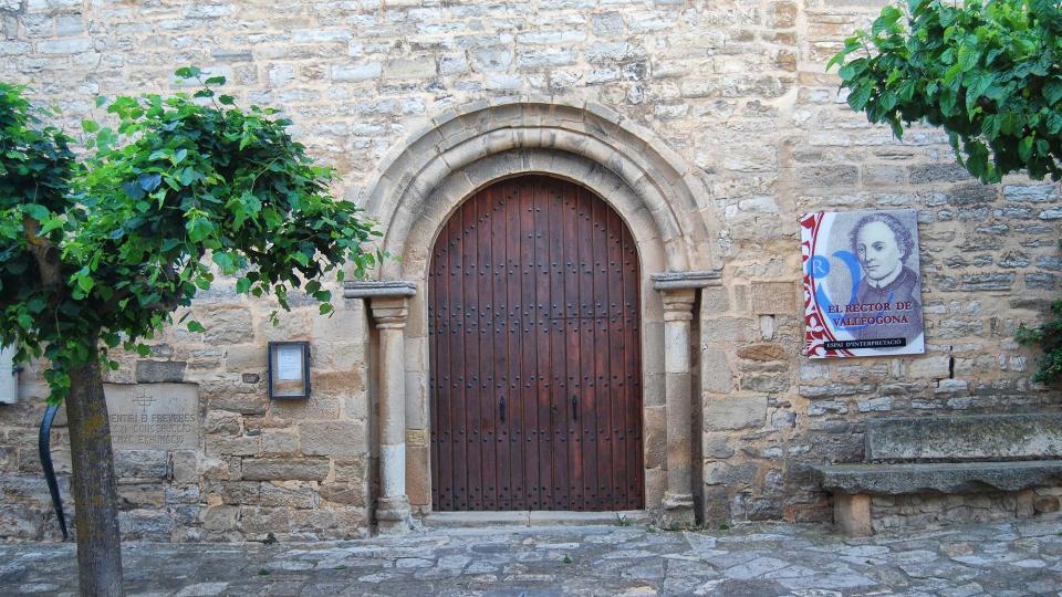 11.06.2016 església de Santa Maria  Vallfogona de Riucorb -  Ramon Sunyer