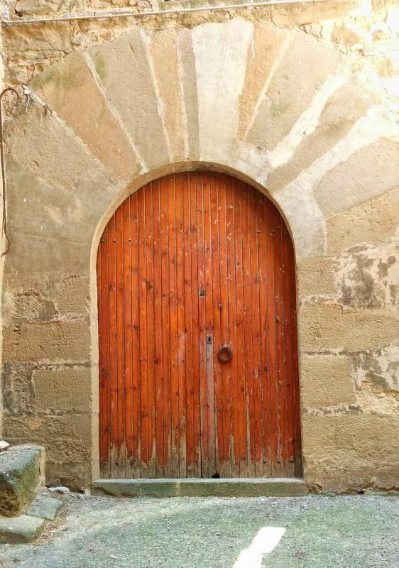 26.06.2016 detall porta  Sant Martí de la Morana -  Ramon Sunyer