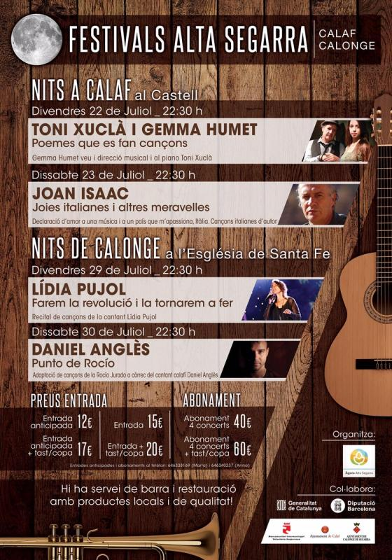 Cartell Festivals Alta Segarra