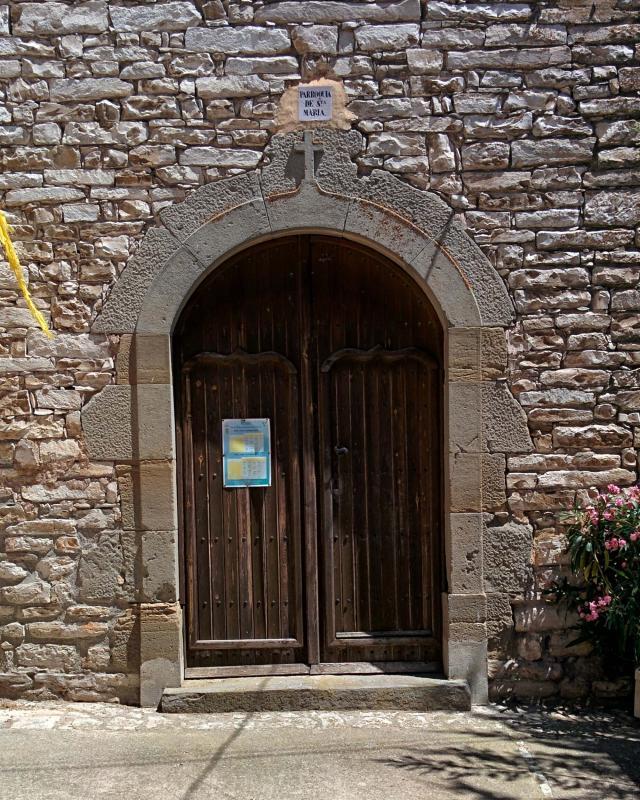 24.07.2016 porta de l'església  Viver de Segarra -  Ramon Sunyer