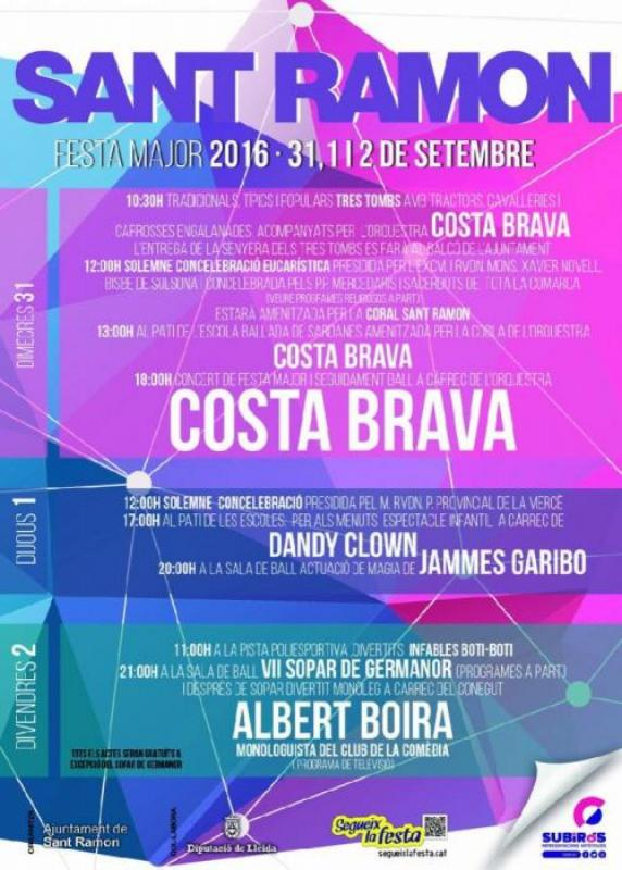 cartell Festa Major Sant Ramon 2016