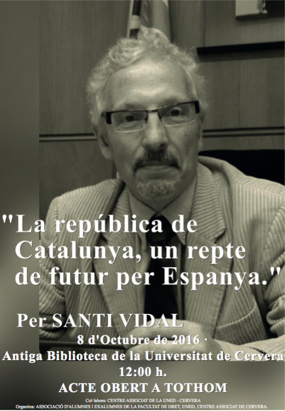 cartell Conferència 'La República de Catalunya, un repte de futur per Espanya'