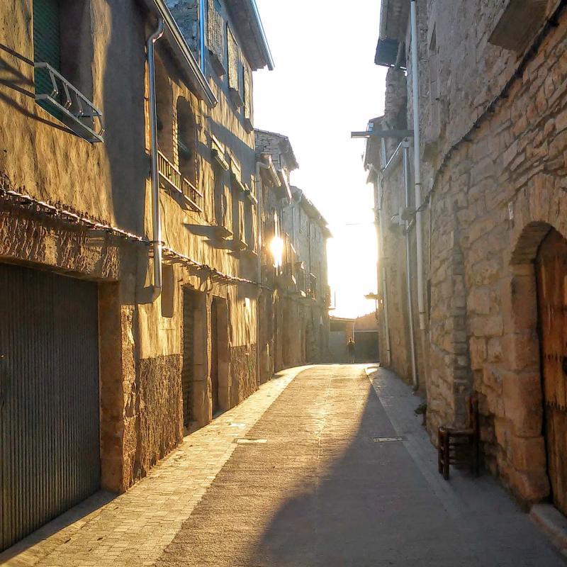 26.08.2014 un únic carrer a la vila closa  El Mas de Bondia -  Ramon Sunyer