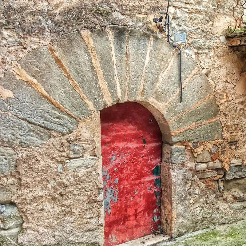 29.03.2015 detall porta  La Prenyanosa -  Ramon Sunyer